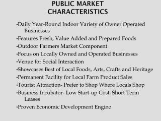 Public Market Characteristics