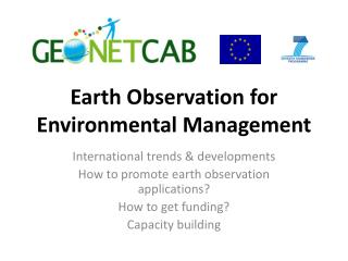 Earth Observation for Environmental Management