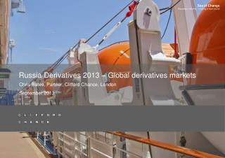 Russia Derivatives 2013 – Global derivatives markets