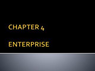 CHAPTER 4 ENTERPRISE