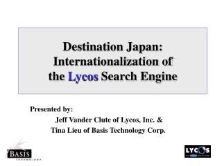 Destination Japan ...