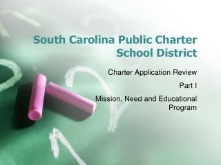 South Carolina Public Charter School District
