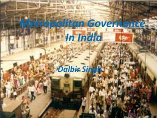 metropolitan governance in india