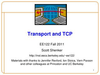Transport and TCP