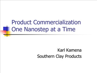 product commercialization one nanostep at a time