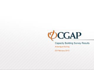 Capacity Building Survey Results