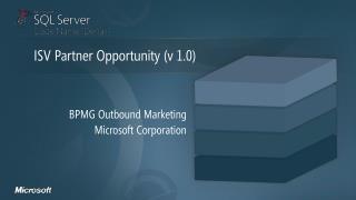 BPMG  Outbound  Marketing Microsoft Corporation