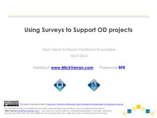 Using Surveys to Support OD projects