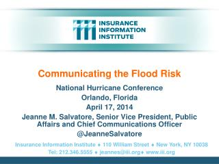 Communicating the Flood Risk