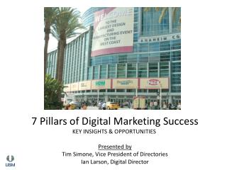 7 Pillars of Digital Marketing Success KEY INSIGHTS  & OPPORTUNITIES  Presented by Tim Simone, Vice President of Direct
