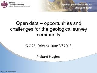 Open data – opportunities and challenges for the geological survey community