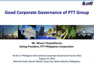Good Corporate Governance of PTT Group