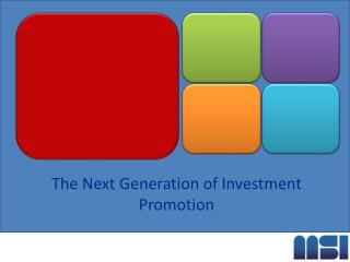 The Next Generation of Investment Promotion