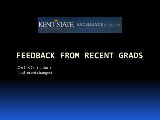 Feedback from Recent Grads