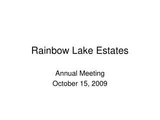 Rainbow Lake Estates