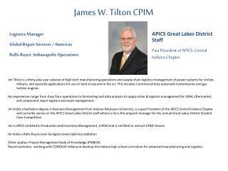James W. Tilton CPIM