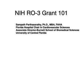NIH RO-3 Grant 101