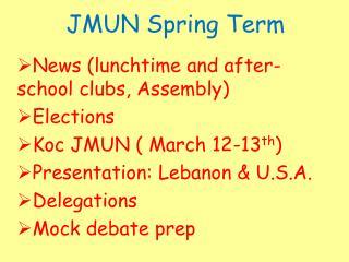 JMUN Spring Term