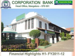 CORPORATION  BANK Head Office, Mangalore – 575  001