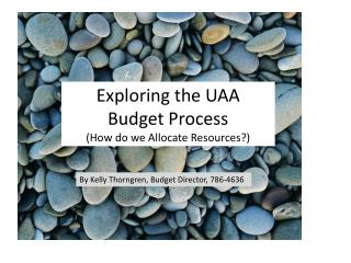 Exploring the UAA  Budget Process (How do we Allocate Resources?)