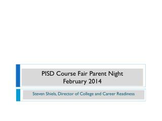 PISD Course Fair Parent Night February 2014