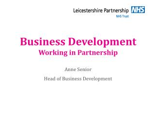 Business Development Working in Partnership