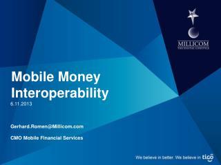 Mobile Money Interoperability