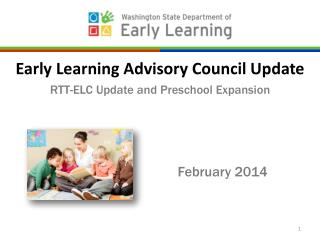 Early Learning Advisory Council Update RTT-ELC Update and Preschool Expansion