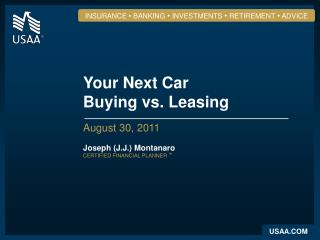 Your Next Car Buying vs. Leasing