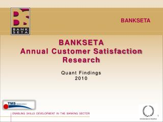 BANKSETA Annual Customer Satisfaction Research