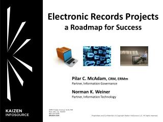 Electronic Records  Projects a Roadmap for Success