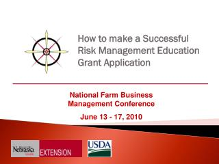 How to make a Successful   Risk Management Education  Grant Application