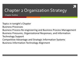 Chapter 2 Organization Strategy