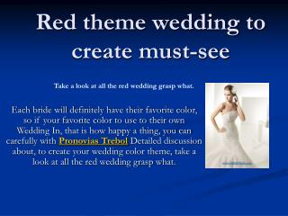 red theme wedding to create must-see