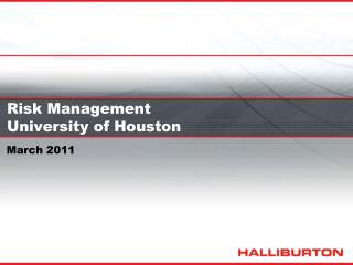 Risk Management University of Houston