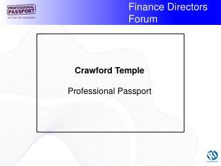 Crawford Temple Professional Passport