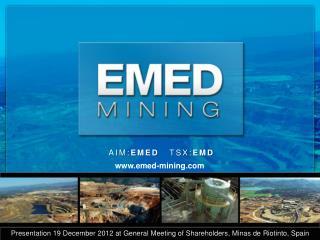 AIM: EMED    TSX: EMD