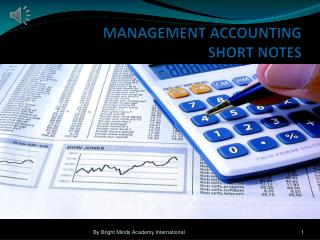 MANAGEMENT ACCOUNTING SHORT NOTES