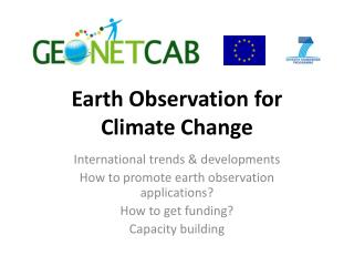 Earth Observation for  Climate Change