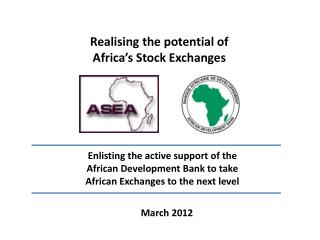 Realising the potential of  Africa's Stock Exchanges