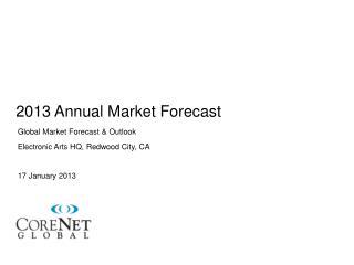 2013 Annual Market Forecast
