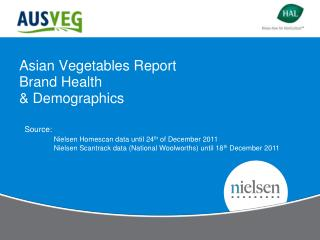 Asian Vegetables Report Brand Health & Demographics