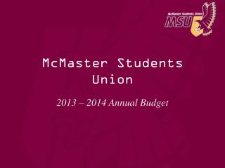 McMaster Students Union