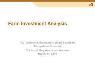 Farm Investment Analysis