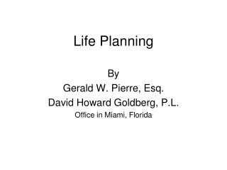 Life Planning