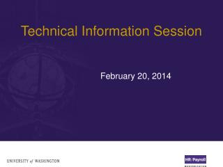 Technical Information Session