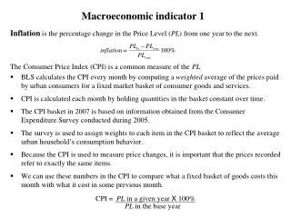 Macroeconomic indicator 1