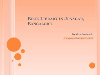 Online book library at Jpnagar