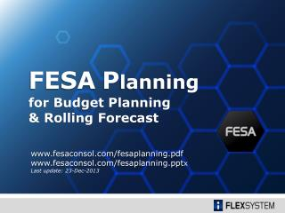for  Budget Planning & Rolling Forecast