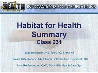 habitat for health summary class 231